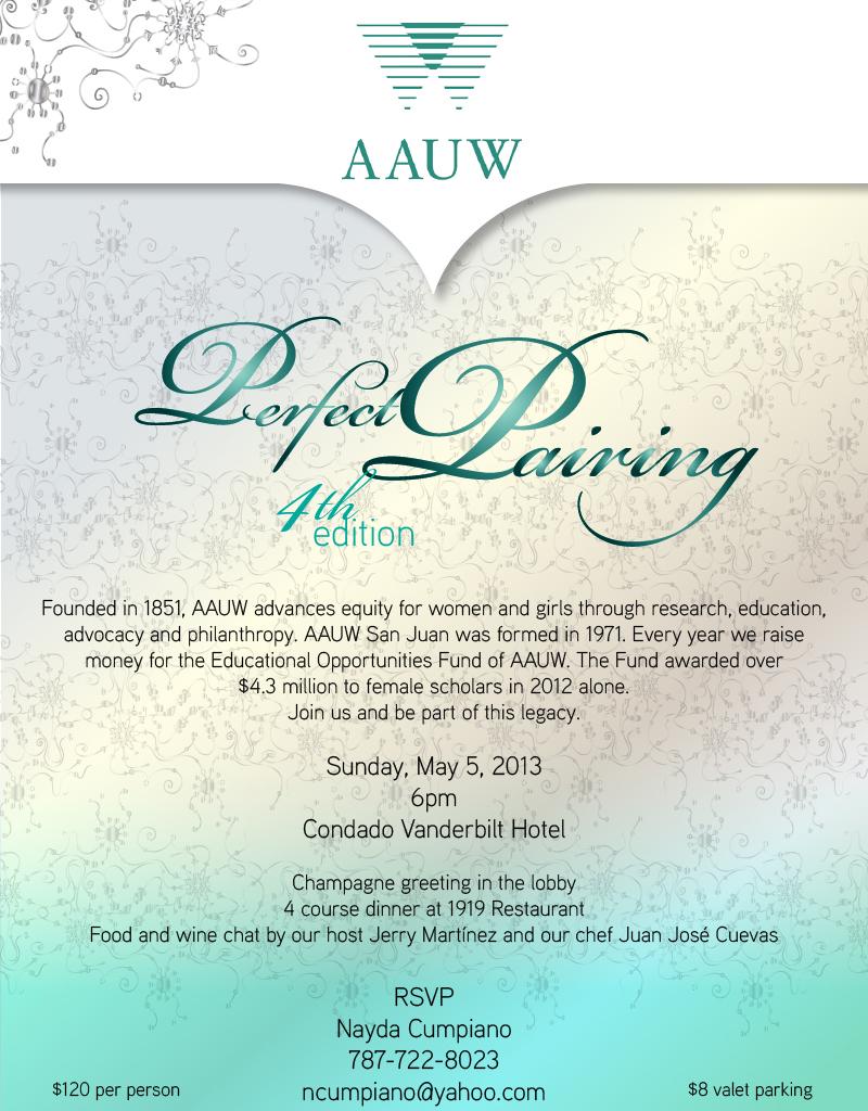 Perfect Pairings invitation